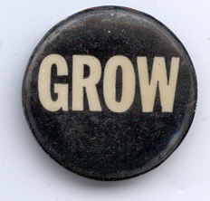 Get Rid of Wallace (GROW) pin wore during Selma Movement, 1965.