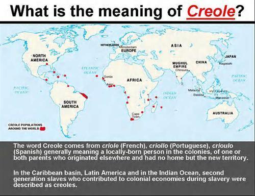 What is the meaning of creole